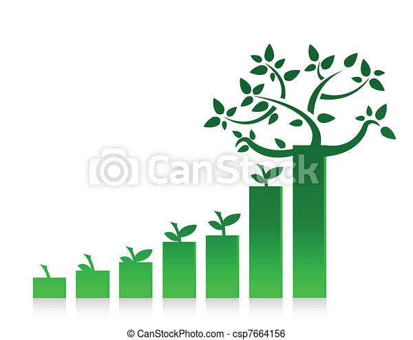 Eco Graph Chart Illustration - csp7664156