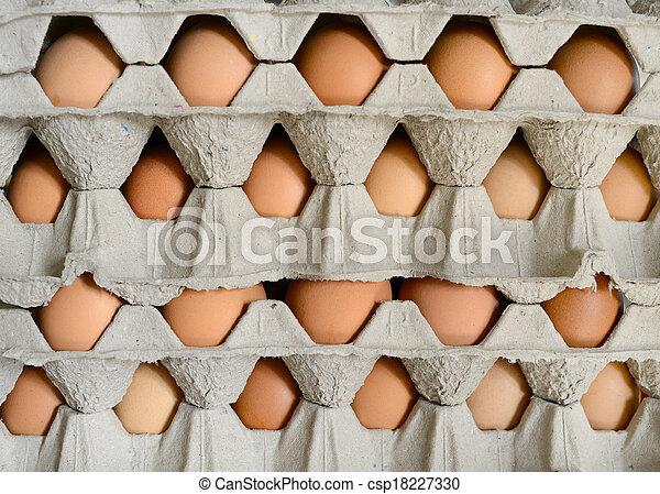 Eier in Kartons. - csp18227330