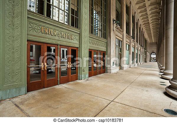 Eingang der Chicagoer Gewerkschaft. - csp10183781