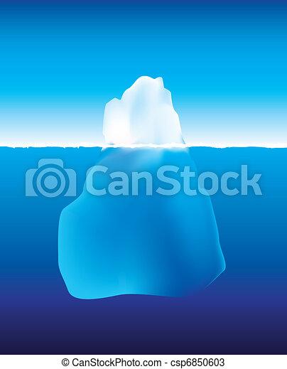 Eisberg über und unter dem Wasser - csp6850603