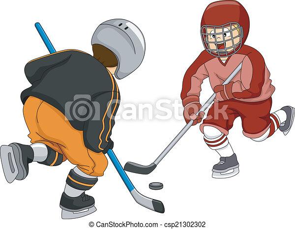 Eishockey-Jungs. - csp21302302