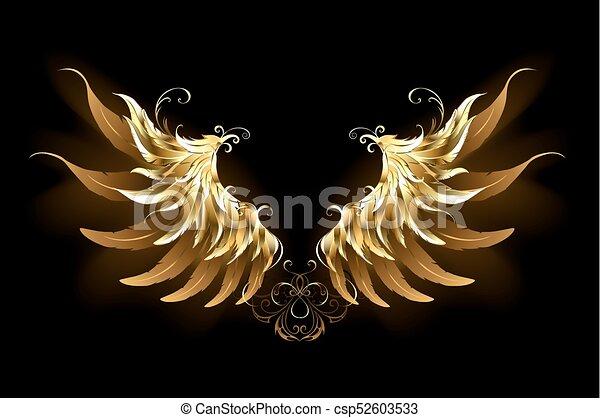 engelchen, glänzend, flügeln - csp52603533