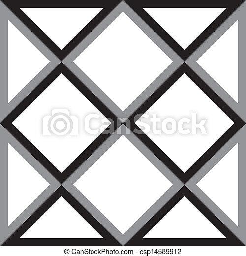 Entfernen Sie Diamantquadrat und Dreieck, versuchen Siedimensionale Illusion Hintergrund - csp14589912
