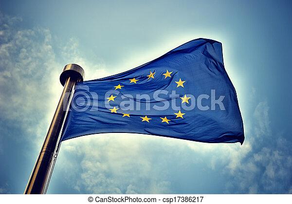 Europäische Gewerkschaftsflagge. - csp17386217