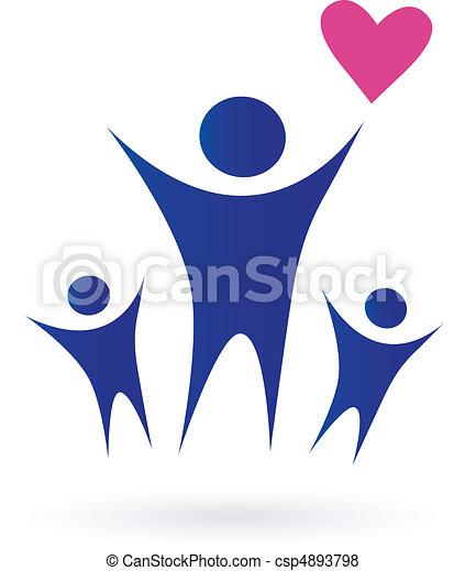 Familie, Gesundheit und gemeinschaftliche Ikonen - csp4893798