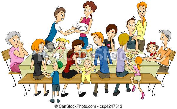 Familientreffen - csp4247513