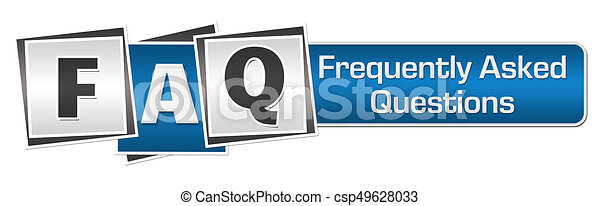FAQ Blue Grey Squares Bar. - csp49628033