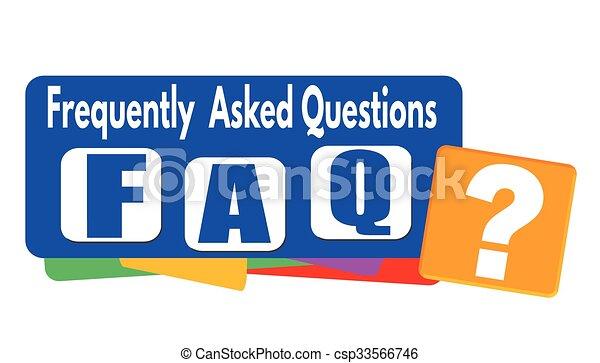 FAQ (häufig gestellte Fragen) Banner oder Label. - csp33566746