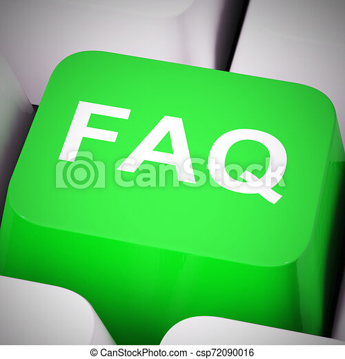 Faq Symbol Icon bedeutet Antworten auf Fragen, um Benutzer oder Mitarbeiter zu unterstützen - 3D Illustration - csp72090016