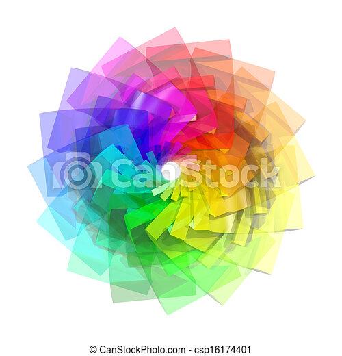 3D-Farbspirale abstrakten Hintergrund - csp16174401