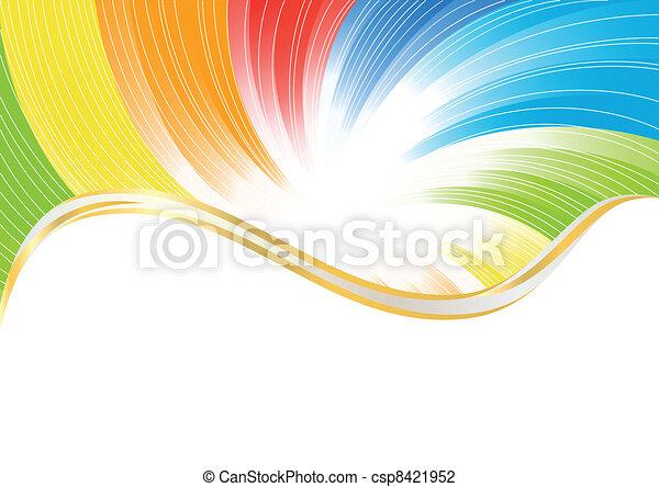 farbe, abstrakt, vektor, hell, hintergrund - csp8421952