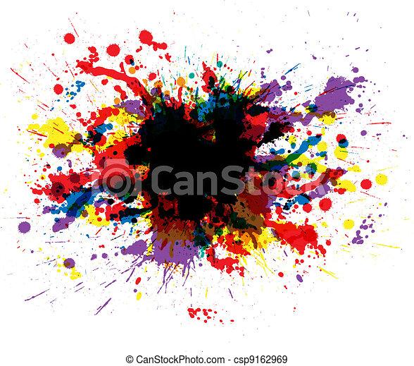 farbe, farbe, spritzer - csp9162969
