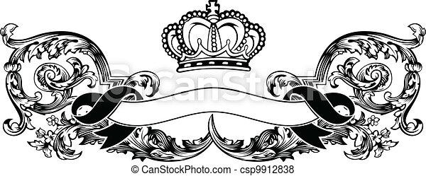 Eine Farbe königlicher krönender Kurven - csp9912838