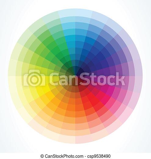 farbe, vektor, wheels., abbildung - csp9538490