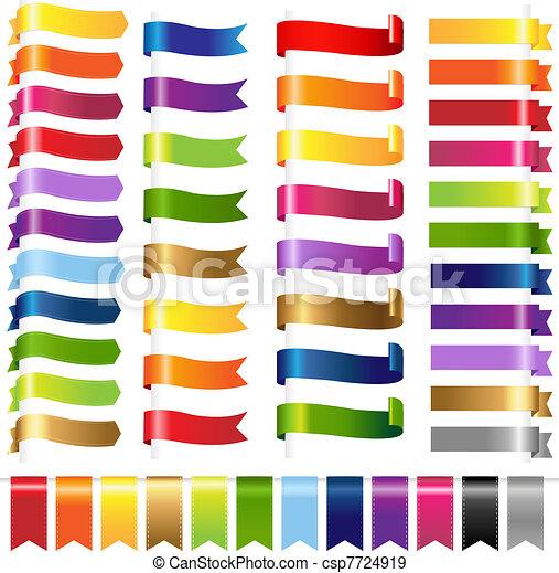 farbe, web, satz, bänder - csp7724919