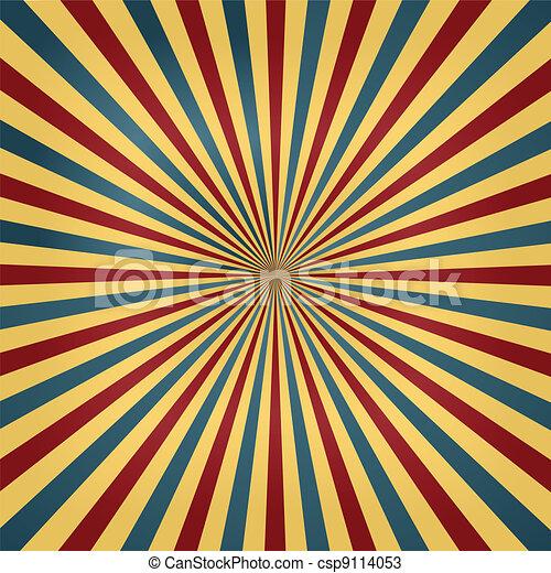 Zirkusfarben sonnenbrecherischer Hintergrund - csp9114053