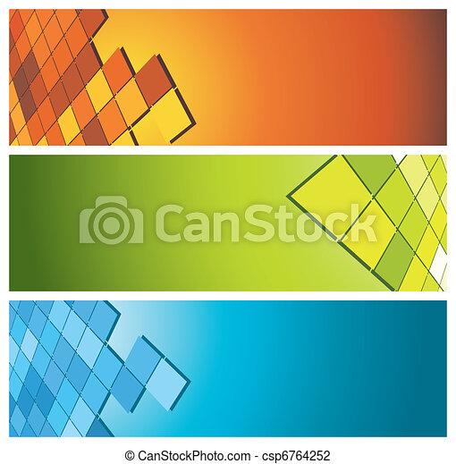 Farbige Banner (Kopf) - csp6764252