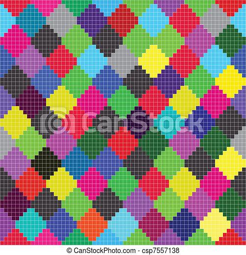 Farbige Quadrate - csp7557138