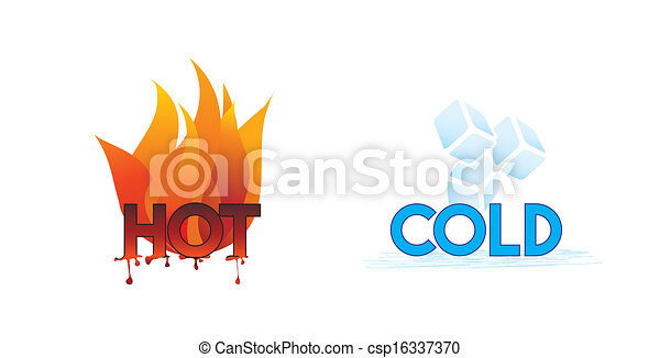 Heiß und kalt oder Feuer und Eis Ikonen; - csp16337370