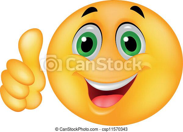 Fröhliches Smiley-Emoticon-Gesicht - csp11570343