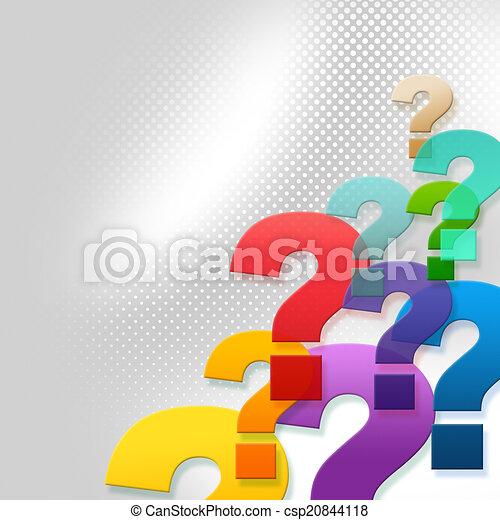 Fragen stellen häufig gestellte Fragen und Antworten dar. - csp20844118