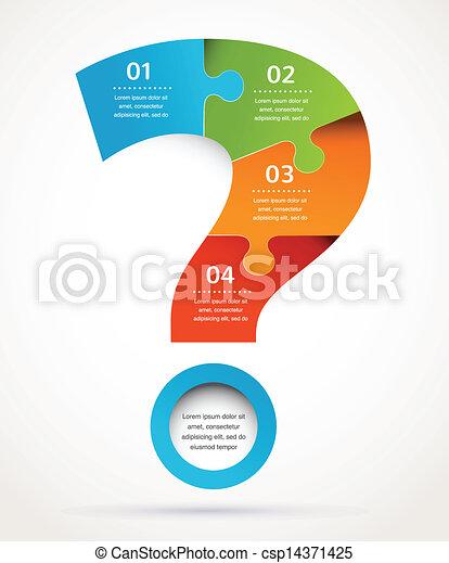 Fragezeichen abstraktes Design und Infographics, Hintergrund - csp14371425