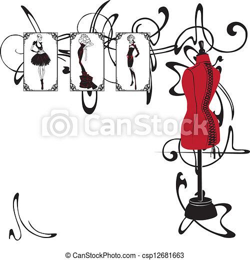 Frame und Modedesign - csp12681663