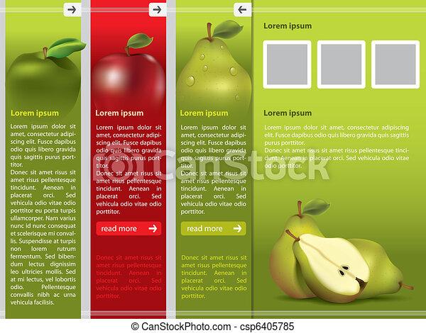 Frisches Obst-Webseiten-Temperaturen - csp6405785
