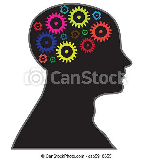Gehirnprozessinformationen - csp5918655