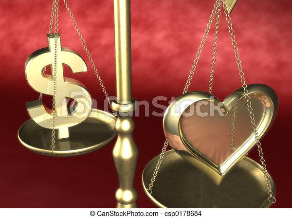 geld, 01, liebe, oder - csp0178684