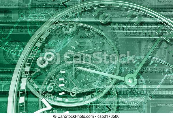 Zeit ist Geld 01 BG - csp0178586