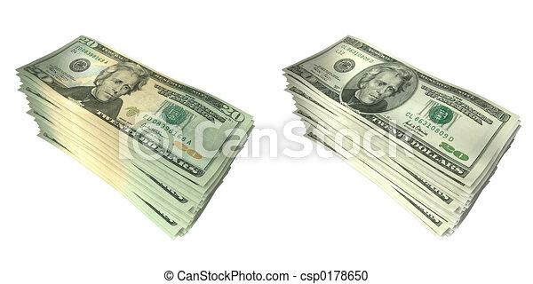Geldstapel 01. - csp0178650