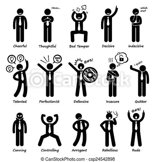 Geschäftsmann Einstellung Persönlichkeiten - csp24542898