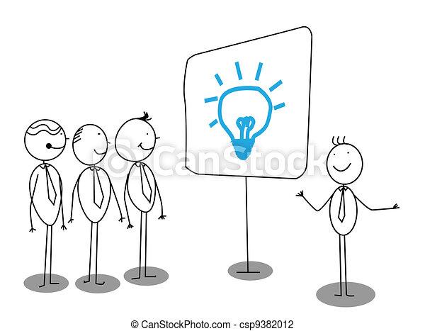 Geschäftsmann-Präsentation. - csp9382012