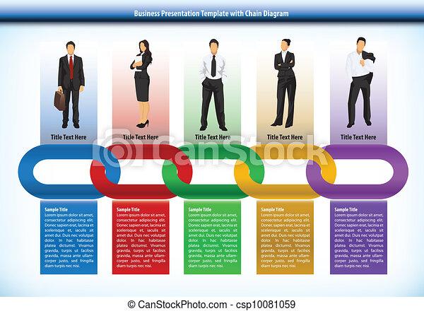 Geschäftspräsentation mit Ketten - csp10081059
