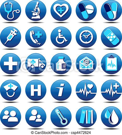 Gesundheits-Ikons Matt - csp4472624