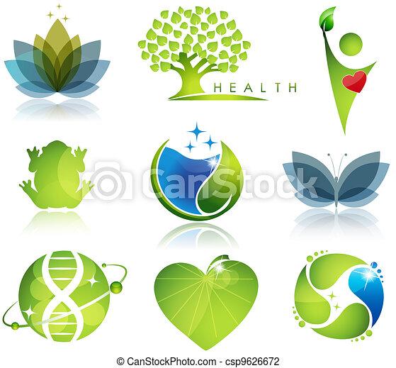 Gesundheits- und Ökologiesymbol - csp9626672