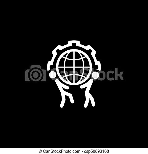 Global Support Icon. Flat Design. - csp50893168