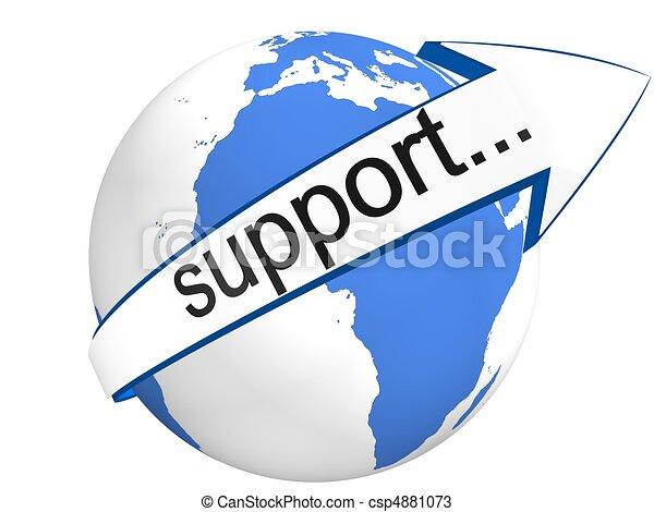 Globale Unterstützung - csp4881073