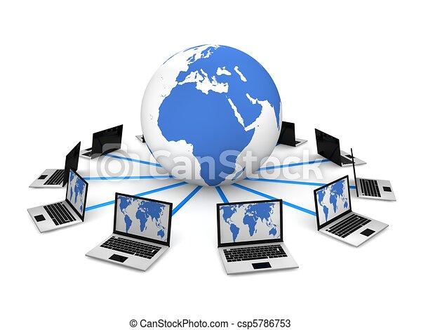 Globales Computernetzwerk - csp5786753