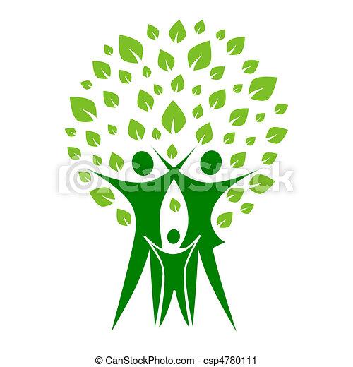 Grüne Familie - csp4780111