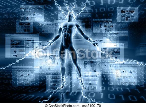 Häftling der Informationen - csp3190170