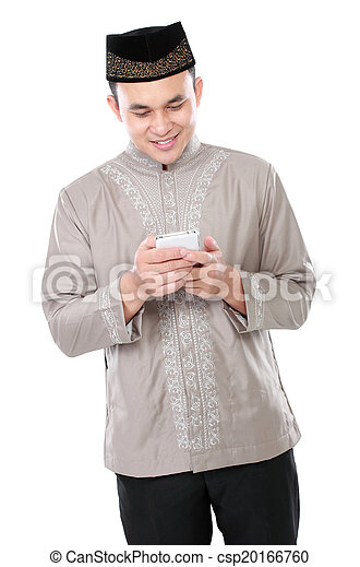 handy, moslem, besitz, mann - csp20166760