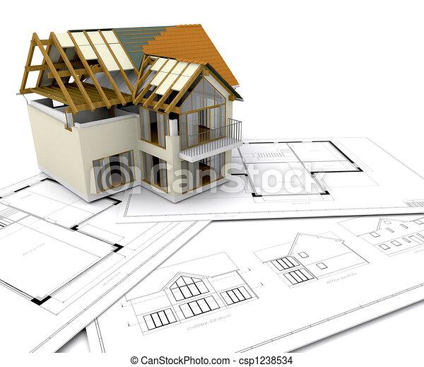 Haus im Bau - csp1238534