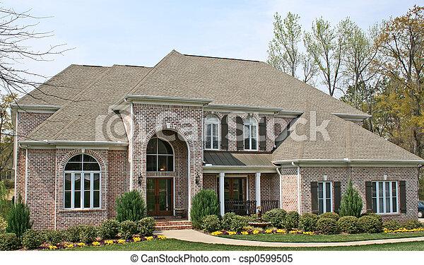 Ein luxuriöses Backsteinhaus - csp0599505