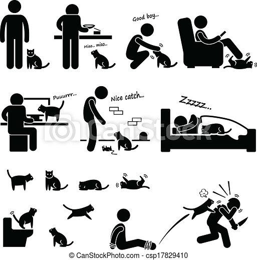 Mann und Katzenfreund - csp17829410