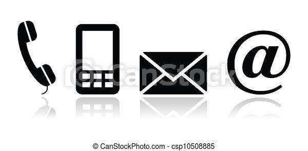 Kontaktieren Sie schwarze Symbole - csp10508885