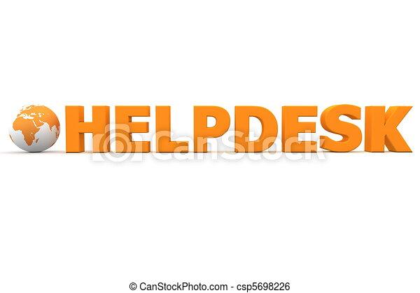 Helpdesk Welt orange - csp5698226