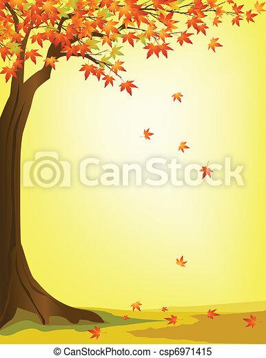 Herbstbaum-Hintergrund - csp6971415