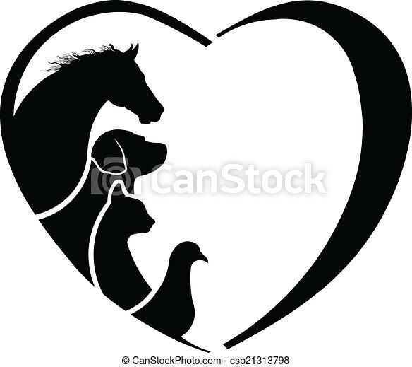 Tierärztin, Pferdeliebe. Abstraktion der Tierpflege - csp21313798